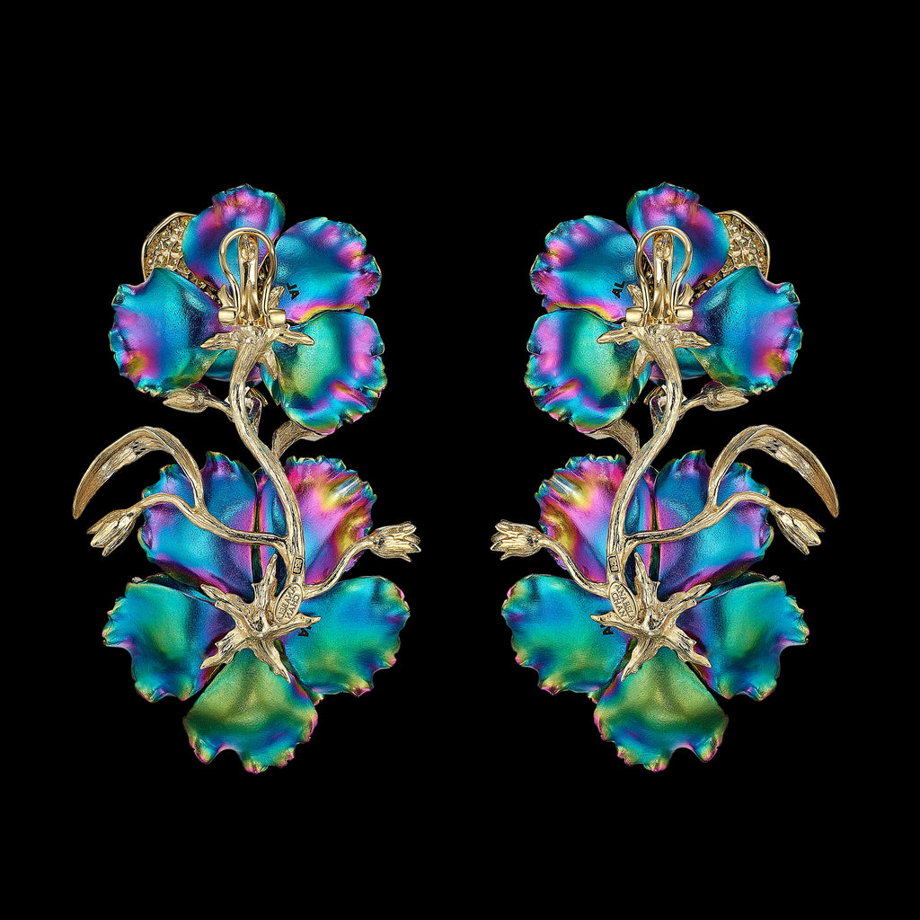 Rainbow Magnolia Earrings