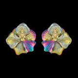 Rainbow Acid Bloom Earrings