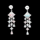 Rose Asscher Drop Earrings