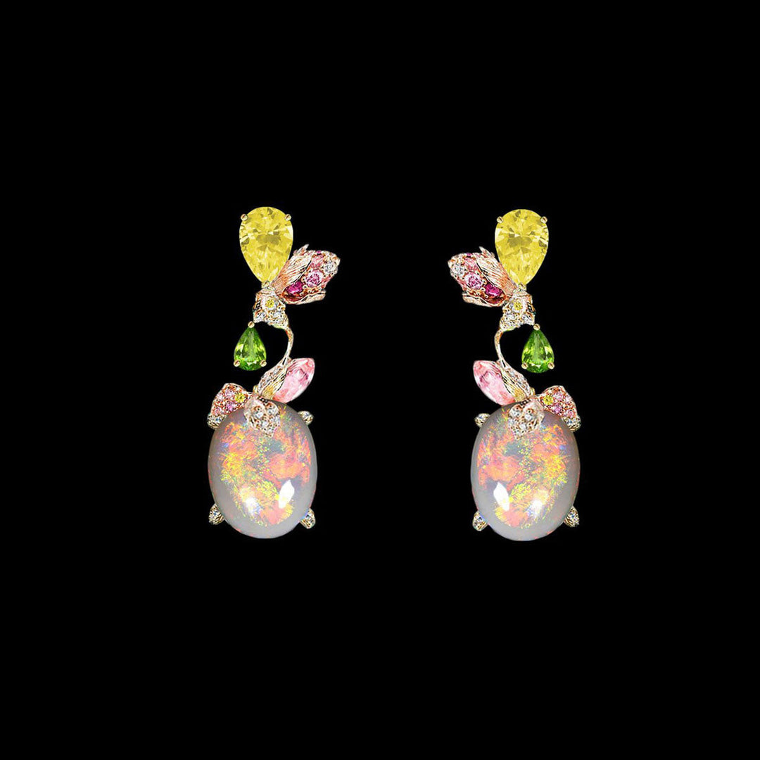 Blush Opal Carnivora Earrings