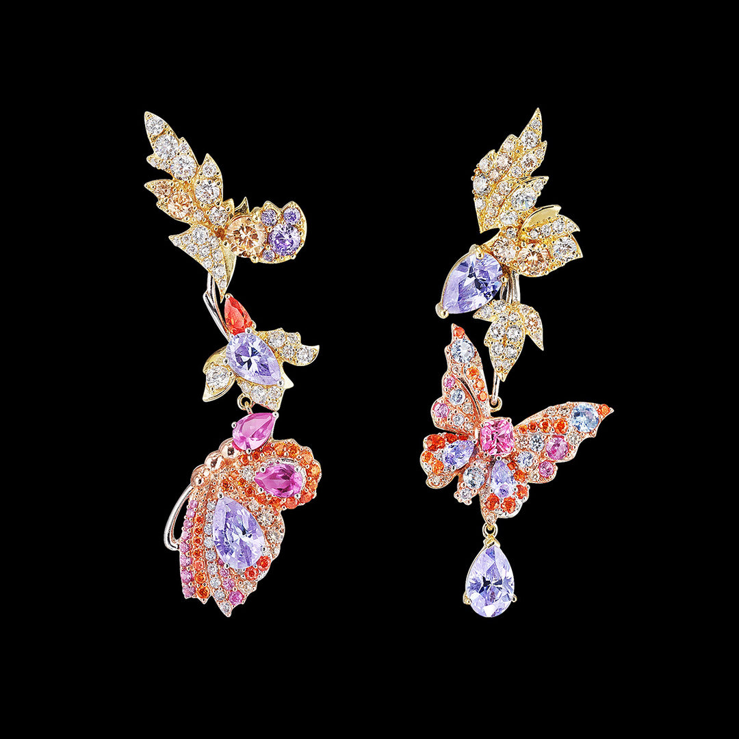 Rose Garden Butterfly Earrings