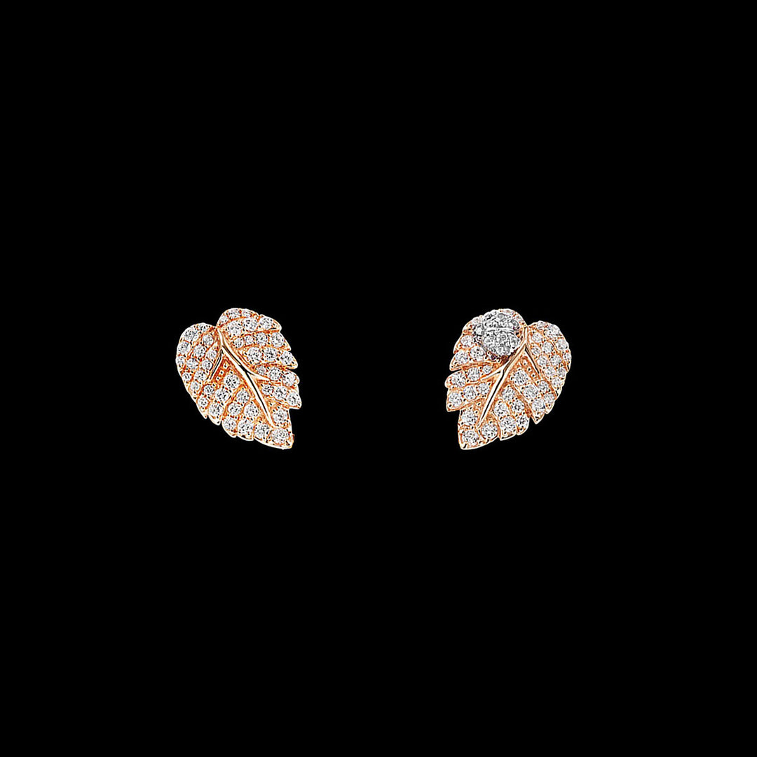 Rose Leaf Ear Studs