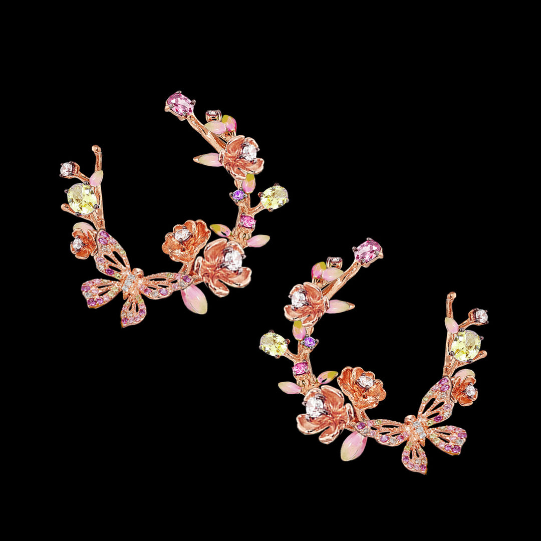 Rose Orchard Garland Earrings