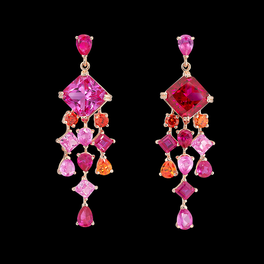Ruby Asscher Drop Earrings