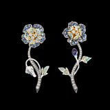Blue Geranium Earrings