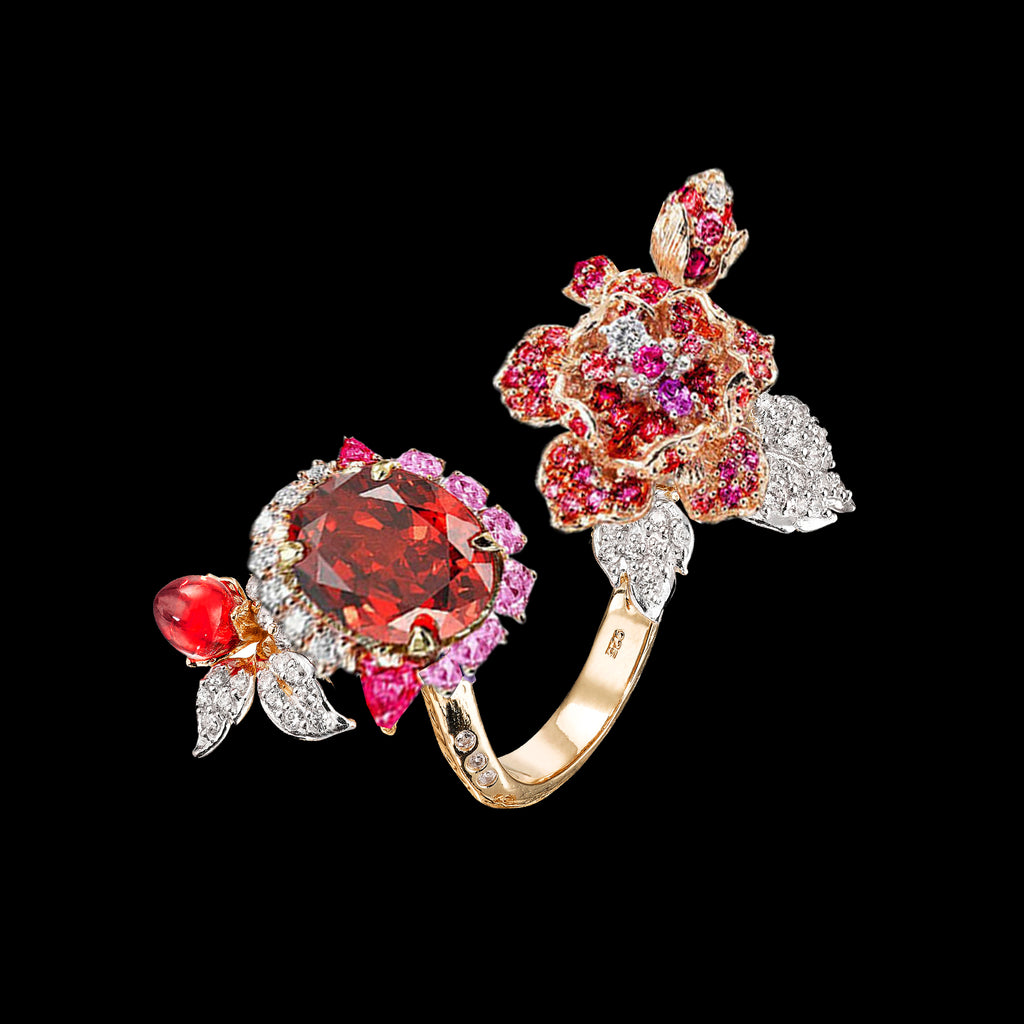 Ruby Delphinium Ring