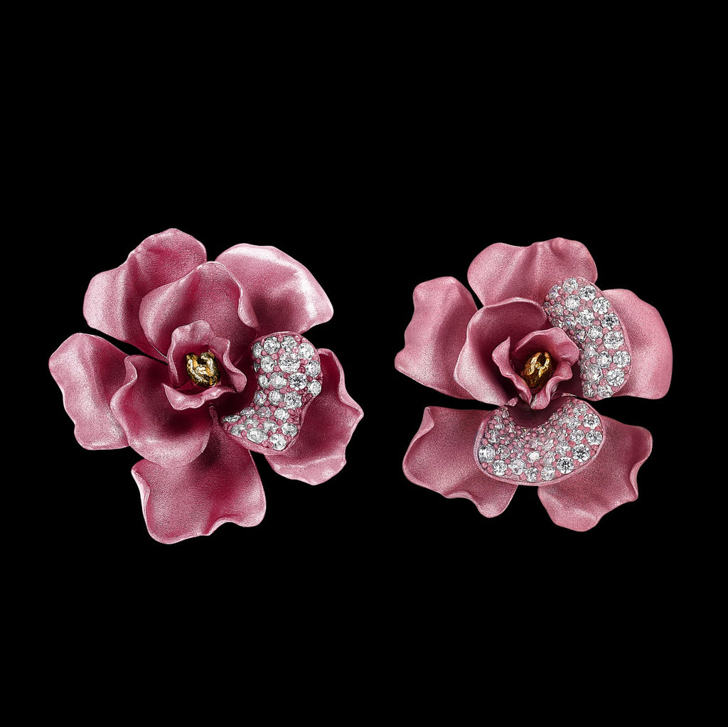 Blush Camelia Earrings