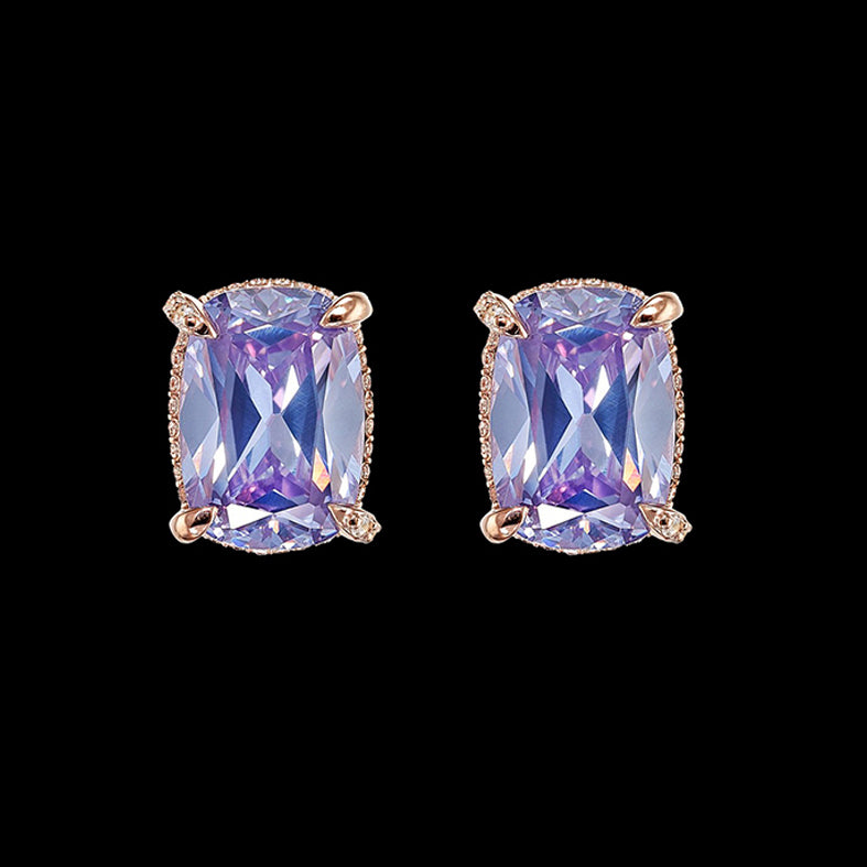 Lilac Cushion Wing Studs