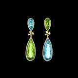 Mini Aqua and Green Tourmaline Papillon Earrings