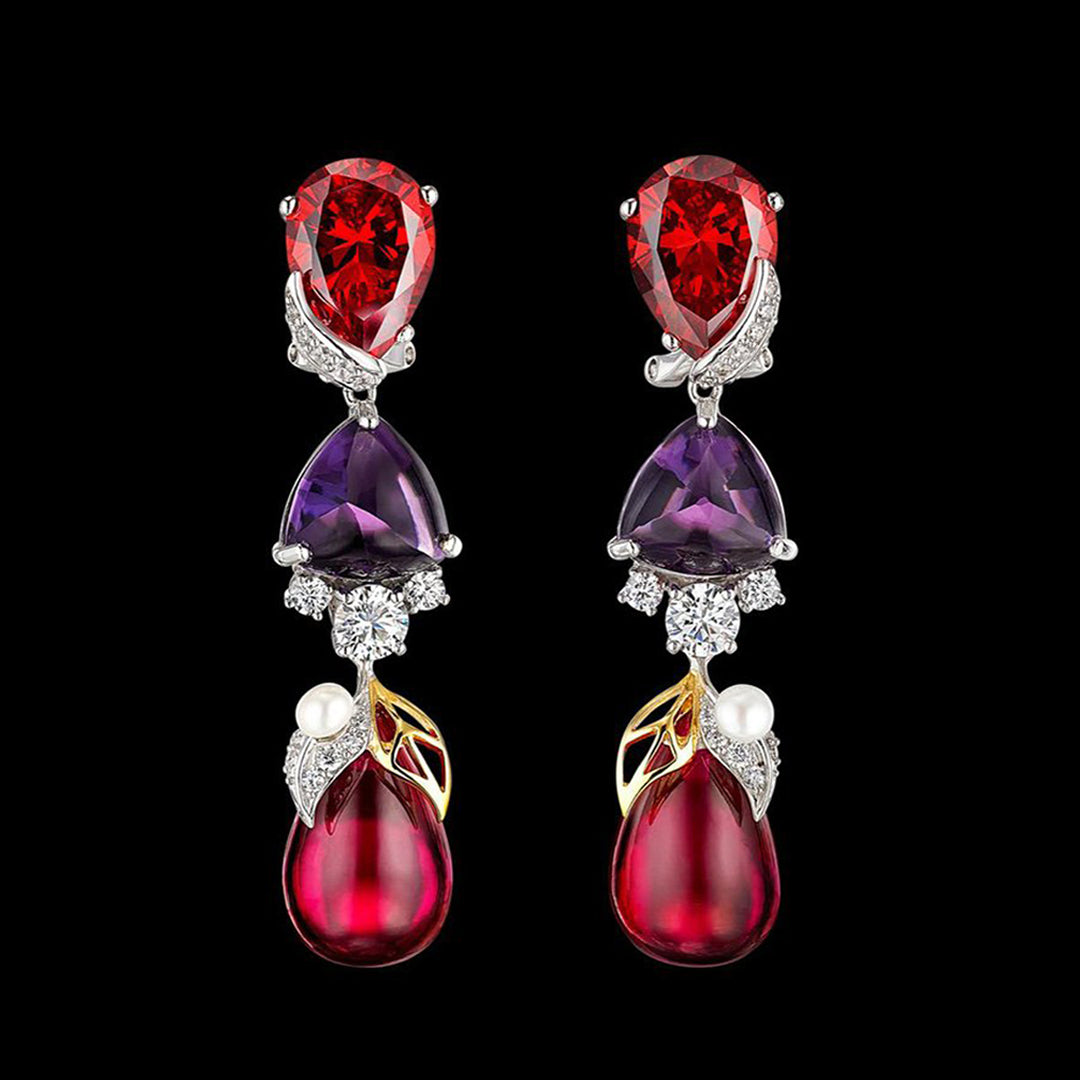 Violet Ruby Berry Earrings