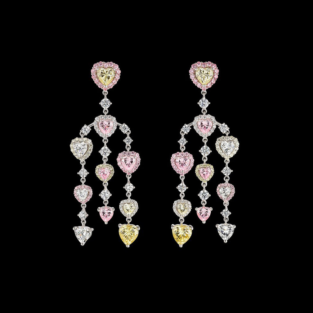 Love Heart Chandelier Earrings