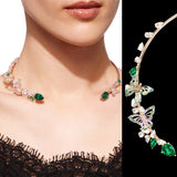 Butterfly Emerald Collar