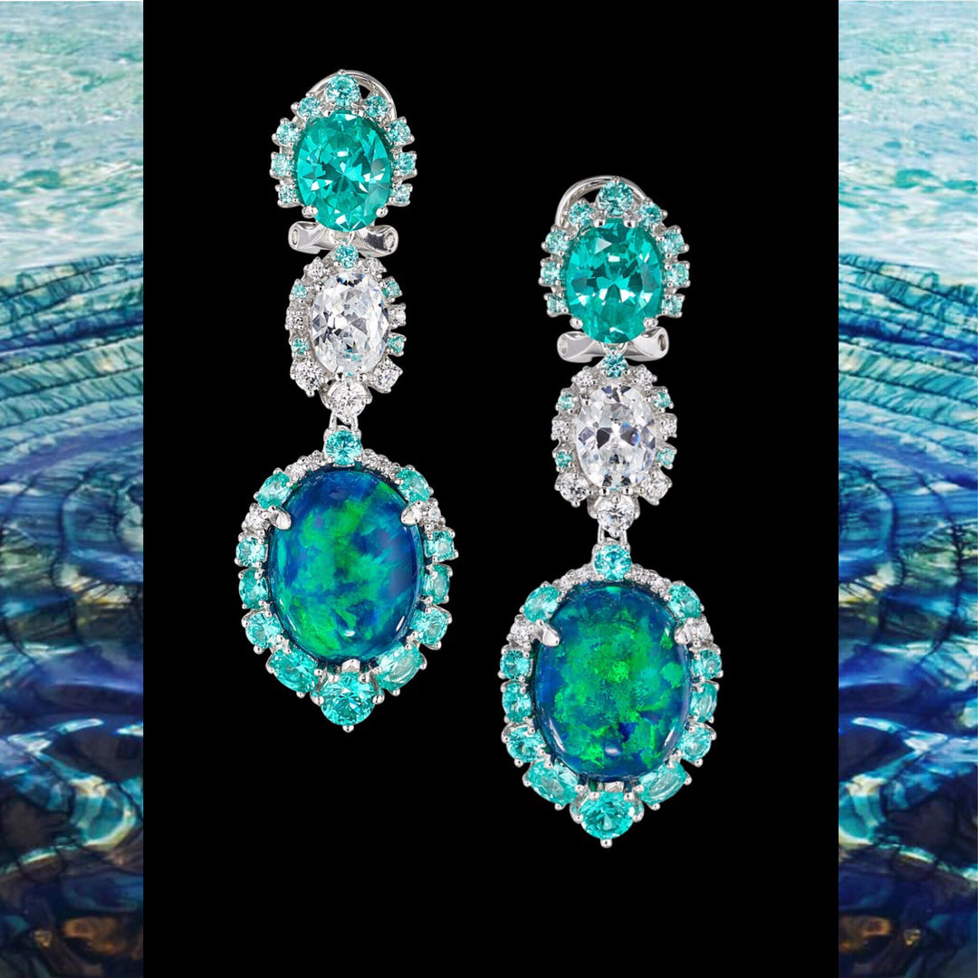 Paraiba Ocean Drop Earrings