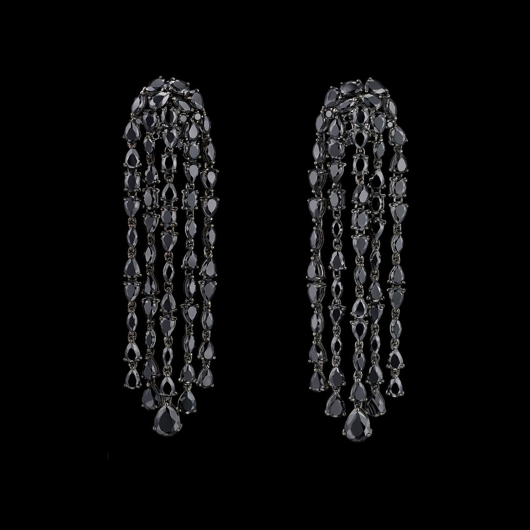 Black Diamond Cascade Earrings