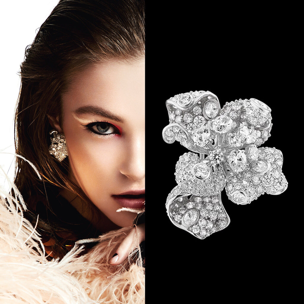 Diamond Bloomingdale Earrings