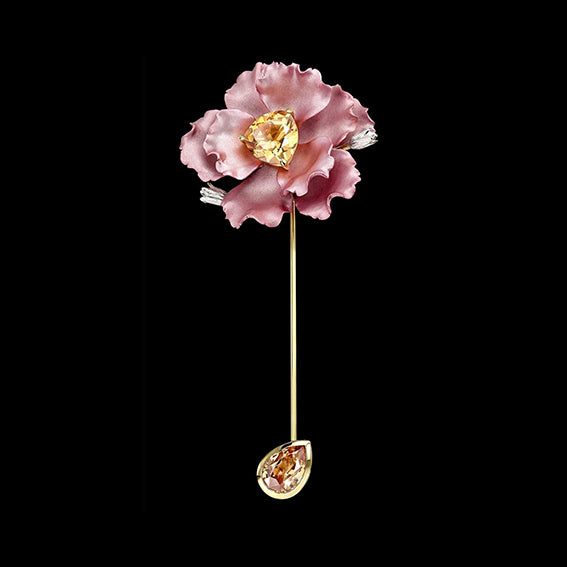 Blush Parrot Bloom Pin