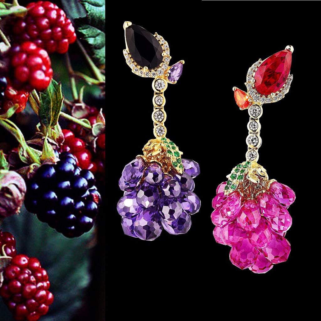 Raspberry Earrings
