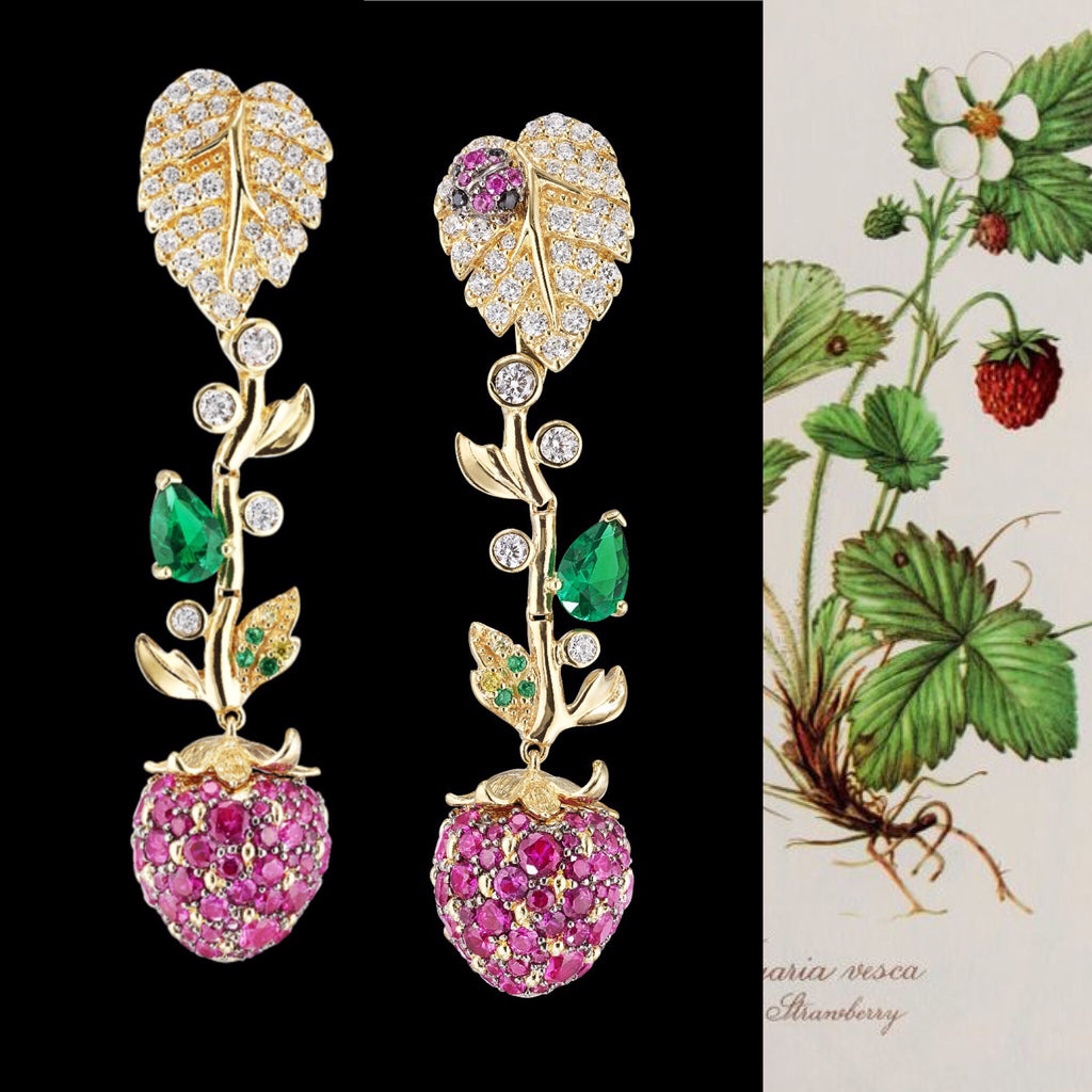 Strawberry Vine Earrings
