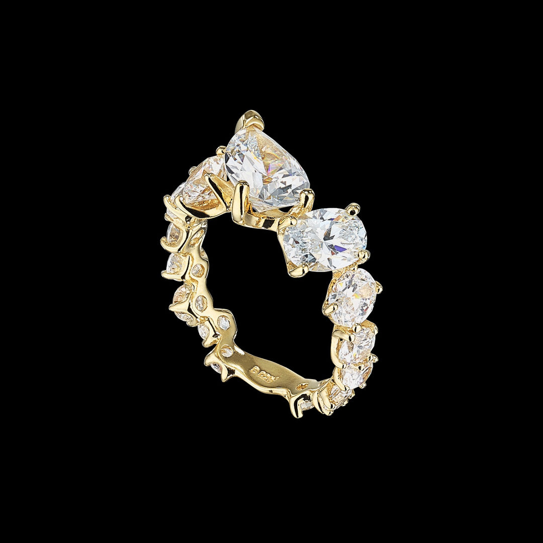 White Nova Starburst Ring