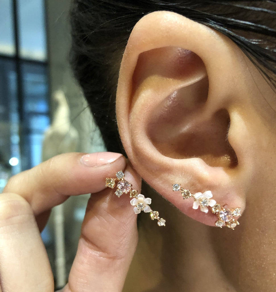 Rose Floral Ear Climbers