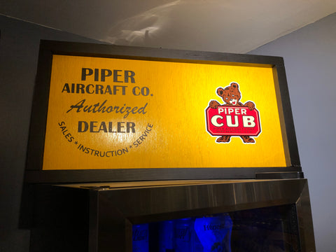"Piper Aircraft Wood Sign ""Last One!"""