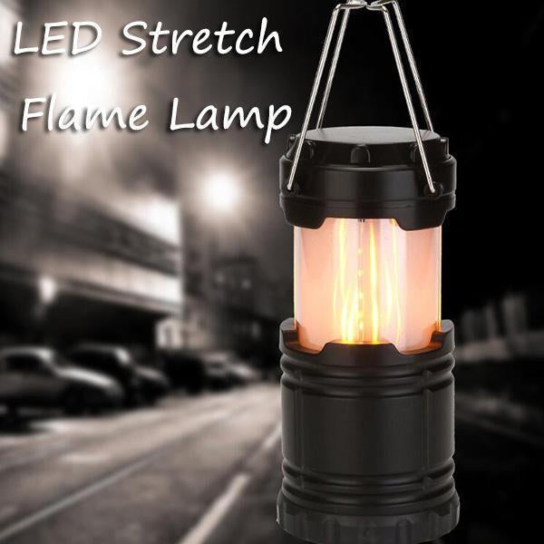 Stretchbare LED-Flammelampe