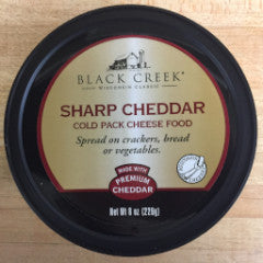 Black Creek cold pack cheese spread