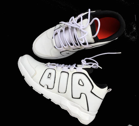 Men's White PU Casual Sports Shoes