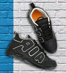 Men's Black PU Casual Sports Shoes