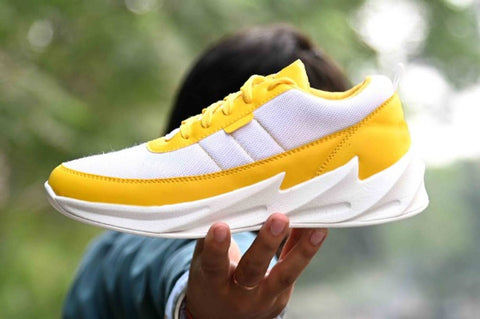 Ultra Lite  Men's Yellow White Mesh Trendy Comfy Sports Shoes