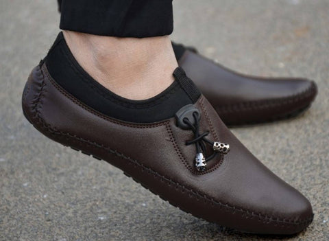 Men's Brown Solid Casual Shoes