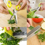 Multifunction 5 Blade Vegetable Stainless Steel Herbs Scissor