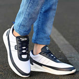 Trendy White Mesh Sports Shoes For Men