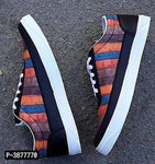 Men's Multicoloured Colourblocked Canvas Synthetic Casual Shoes