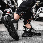 Elegant & Stylish Black Mesh Sports Sneaker Shoes For Men