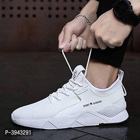 Trendy White Sports Sneakers for Men