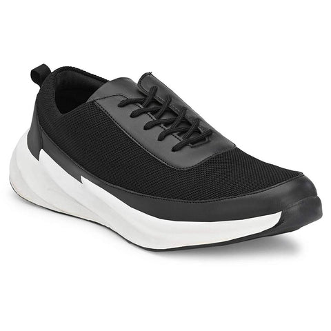 Black Sports Running Shoes For Men's