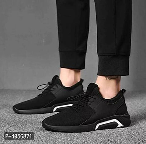 Men's Black Mesh Sports Shoes