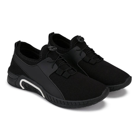 Men's Stylish and Trendy Black Solid Canvas Casual Sports Shoes