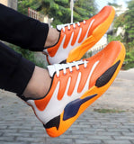 Orange Canvas Casual Sports Shoes