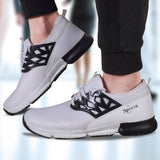 Men's Stylish White Mesh Sports Shoes