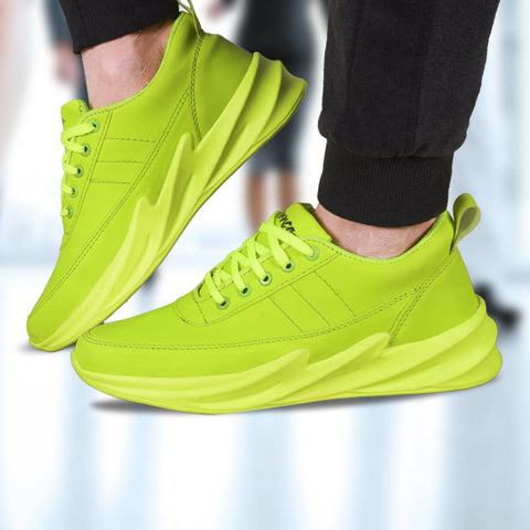 Men's Stylish Green Mesh Sports Shoes