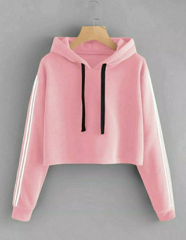 Classic Peach Partywear Fleece Sweatshirts For Women