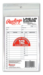 Rawlings Line-Up Cards (12 cards)