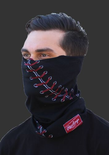 Rawlings Multi-Purpose Neck Gaiter - Baseball Stitch - Black