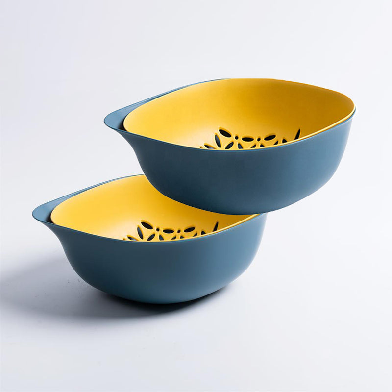 Double Layered Colander Strainer Bowl | 2 Pieces