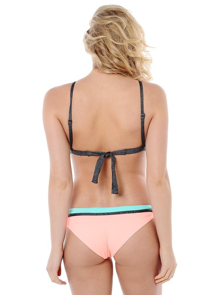 Maaji Swimwear Cantaloupe Collage Bikini Top - shaymartian