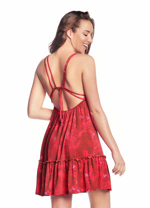 Maaji Hello Spring Red Short Dress - shaymartian