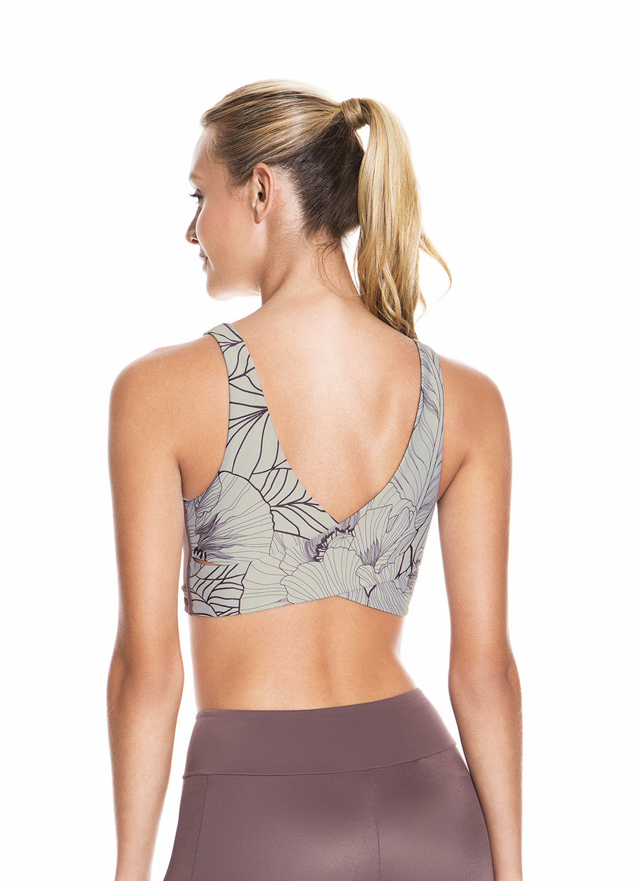 Maaji Twist Blooms Fig Reversible Sports Bra