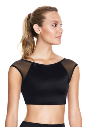 Maaji Tempt Black Fitted Crop Top